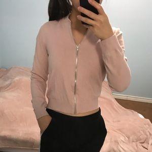 2/$40 GARAGE  Blush Pink Zip Up Cardigan